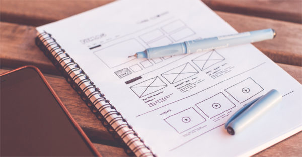 Wireframes UX design